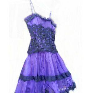 Formal girls dress purple and black